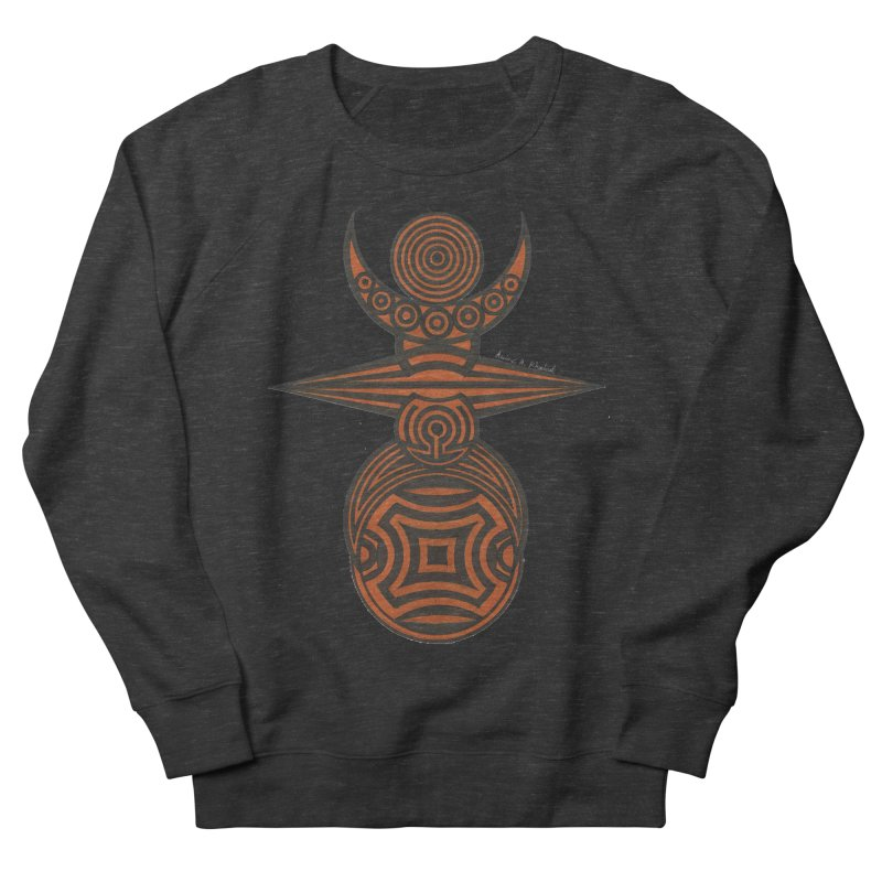 Totem Men's French Terry Sweatshirt by Rocain's Artist Shop