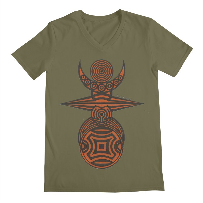 Totem Men's Regular V-Neck by Rocain's Artist Shop