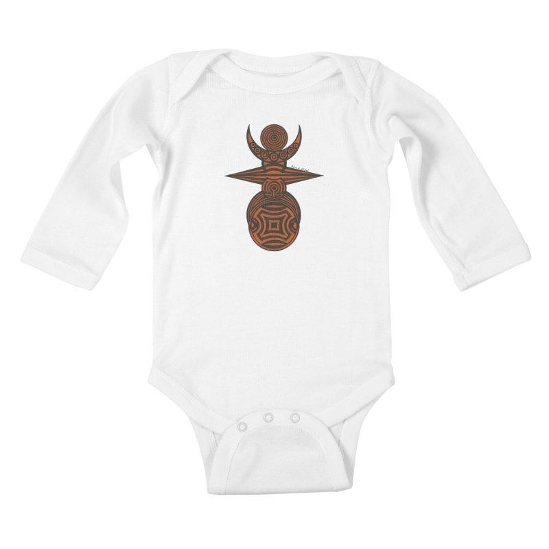 Totem Kids Baby Longsleeve Bodysuit by Rocain's Artist Shop