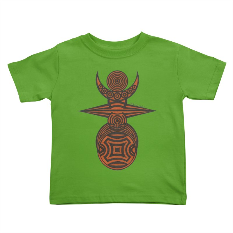 Totem Kids Toddler T-Shirt by Rocain's Artist Shop