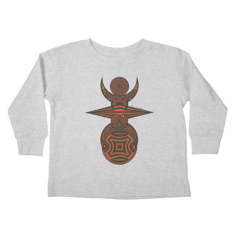 Totem Kids Toddler Longsleeve T-Shirt by Rocain's Artist Shop