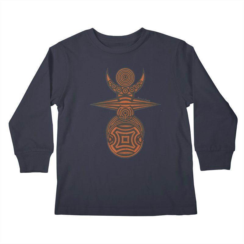 Totem Kids Longsleeve T-Shirt by Rocain's Artist Shop
