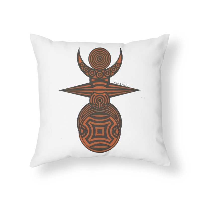 Totem Home Throw Pillow by Rocain's Artist Shop