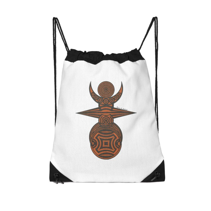 Totem Accessories Drawstring Bag Bag by Rocain's Artist Shop
