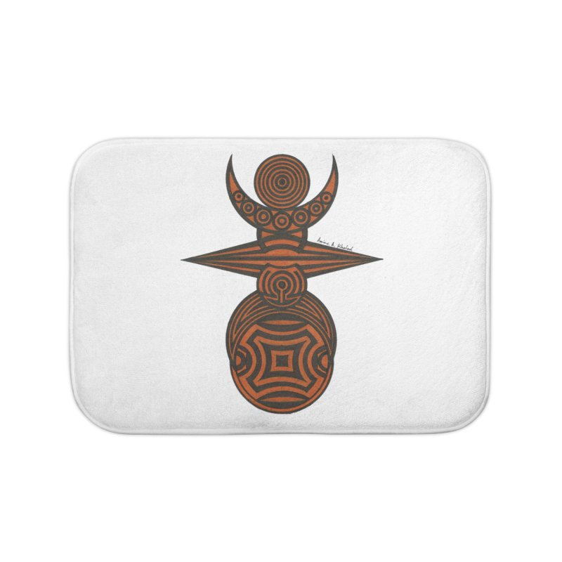 Totem Home Bath Mat by Rocain's Artist Shop