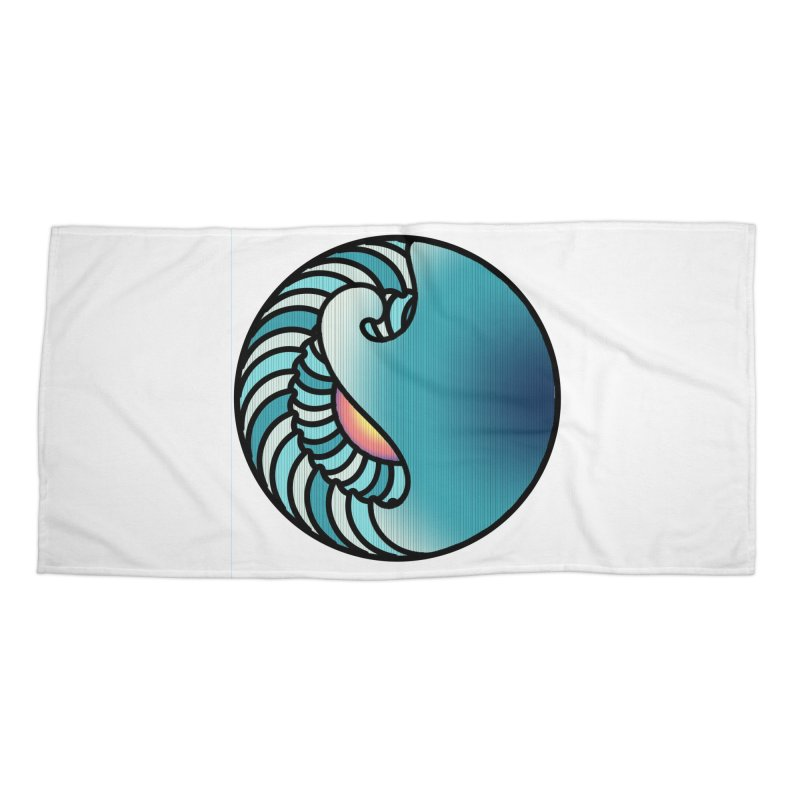 Endless Wave Accessories Beach Towel by Rocain's Artist Shop