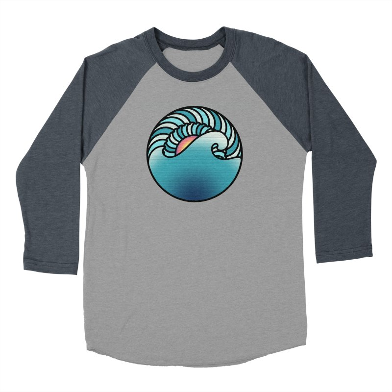 Endless Wave Women's Baseball Triblend Longsleeve T-Shirt by Rocain's Artist Shop