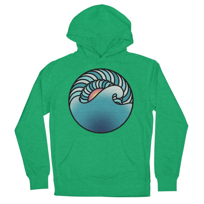 Endless Wave Women's French Terry Pullover Hoody by Rocain's Artist Shop