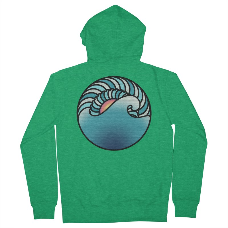 Endless Wave Women's French Terry Zip-Up Hoody by Rocain's Artist Shop