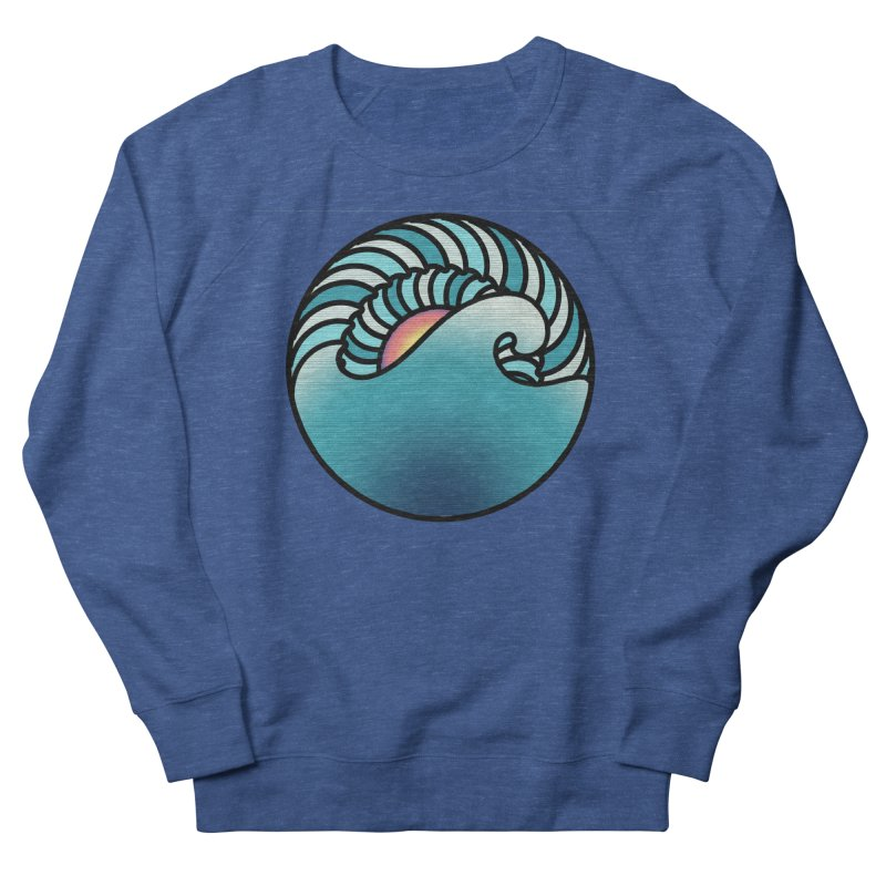 Endless Wave Women's French Terry Sweatshirt by Rocain's Artist Shop