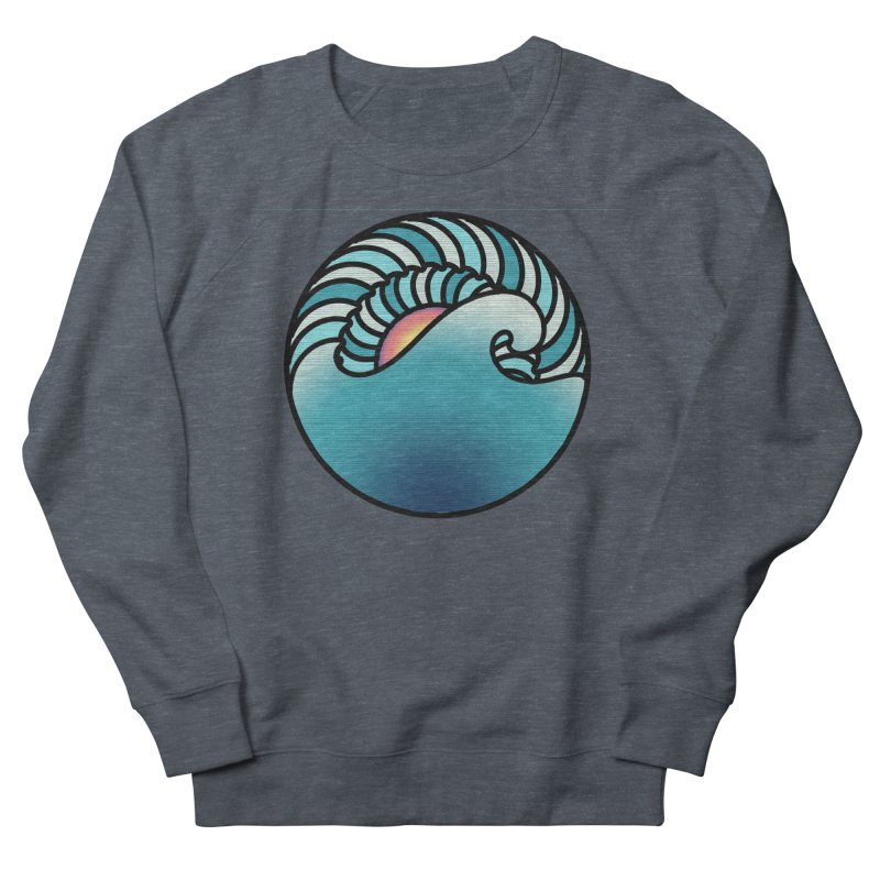 Endless Wave Men's French Terry Sweatshirt by Rocain's Artist Shop