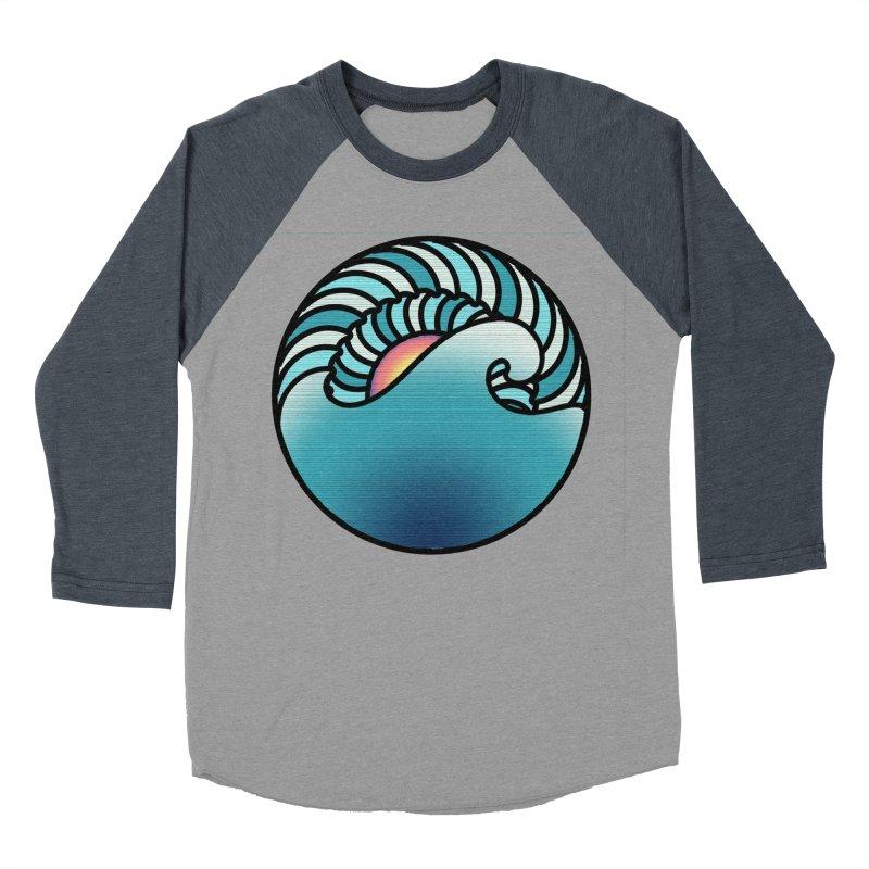 Endless Wave Men's Baseball Triblend Longsleeve T-Shirt by Rocain's Artist Shop