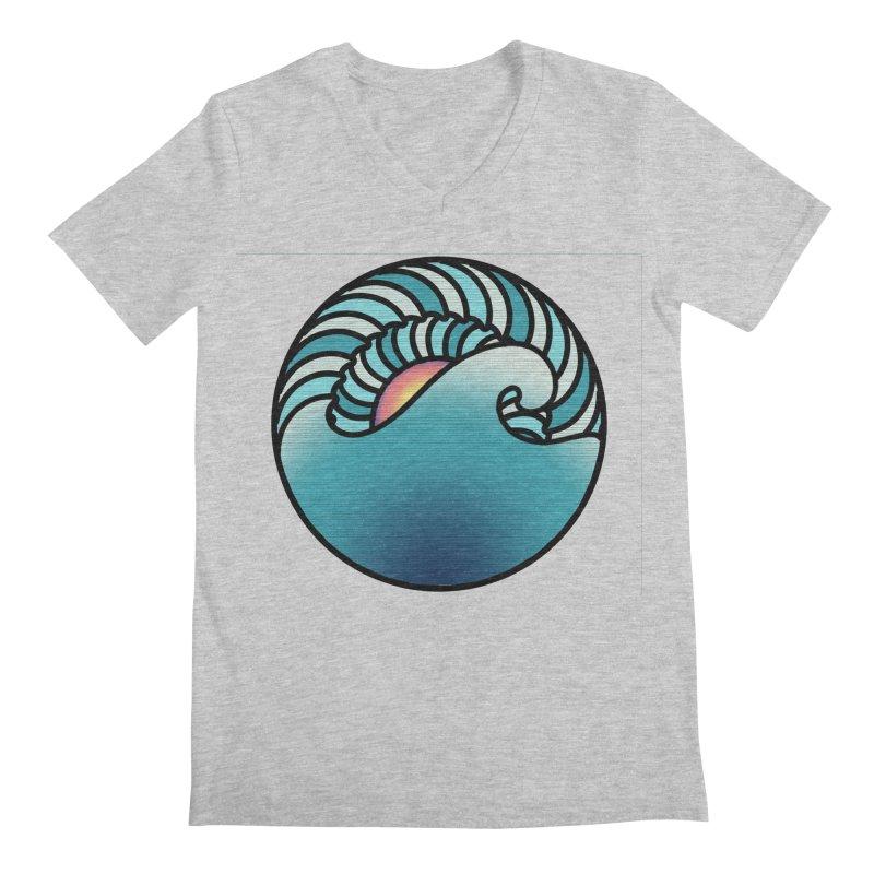 Endless Wave Men's Regular V-Neck by Rocain's Artist Shop