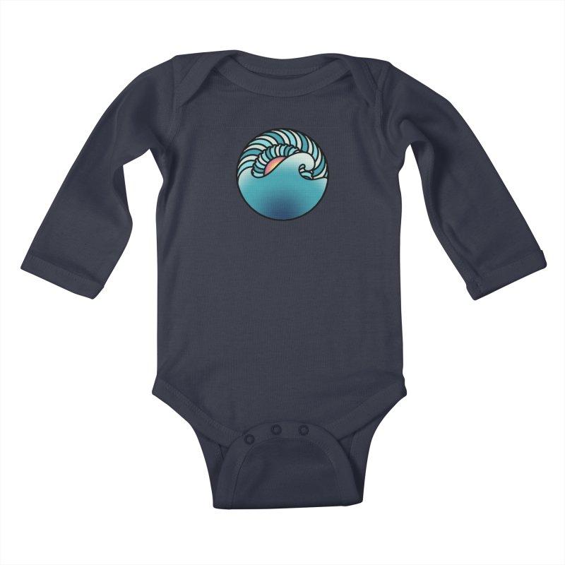 Endless Wave Kids Baby Longsleeve Bodysuit by Rocain's Artist Shop