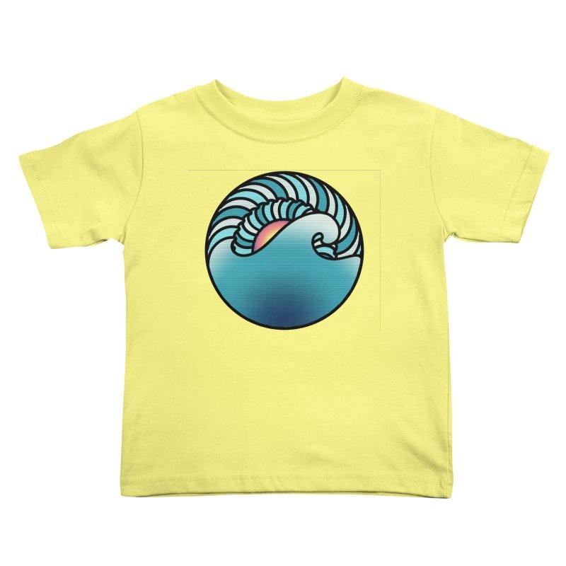 Endless Wave Kids Toddler T-Shirt by Rocain's Artist Shop