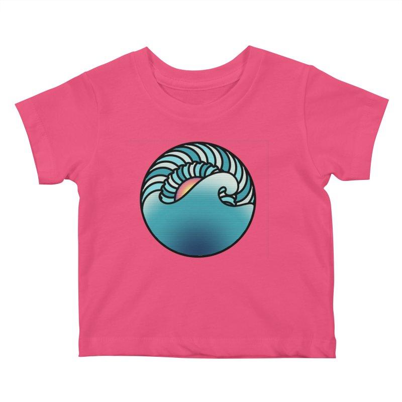 Endless Wave Kids Baby T-Shirt by Rocain's Artist Shop