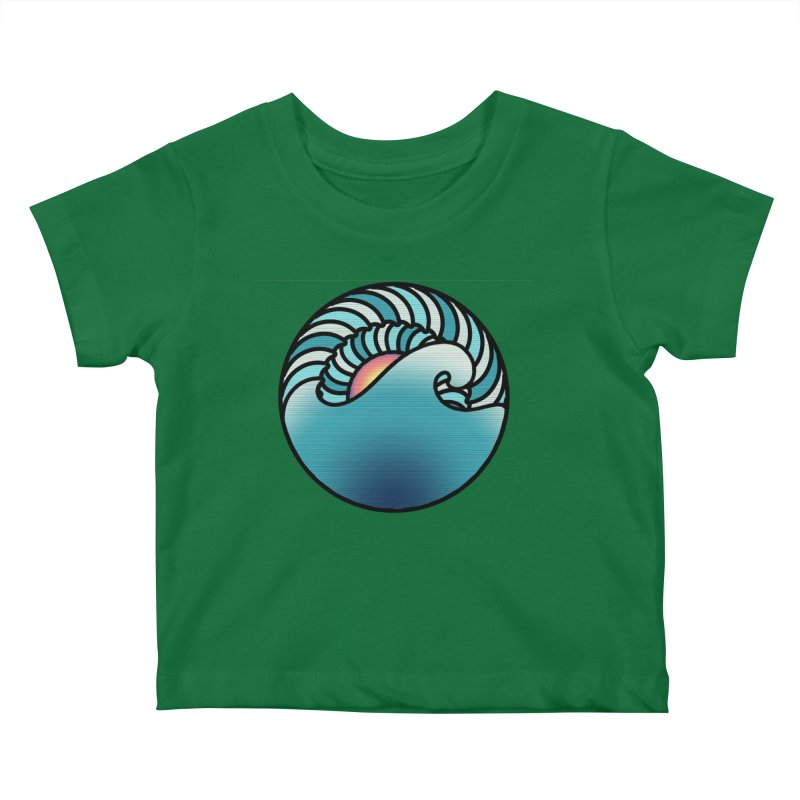 Endless Wave Kids Baby T-Shirt by Rocain's Artist Shop