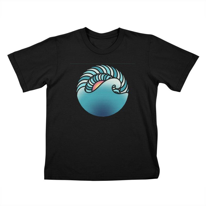 Endless Wave Kids T-Shirt by Rocain's Artist Shop