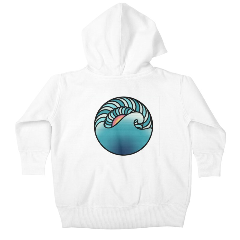 Endless Wave Kids Baby Zip-Up Hoody by Rocain's Artist Shop