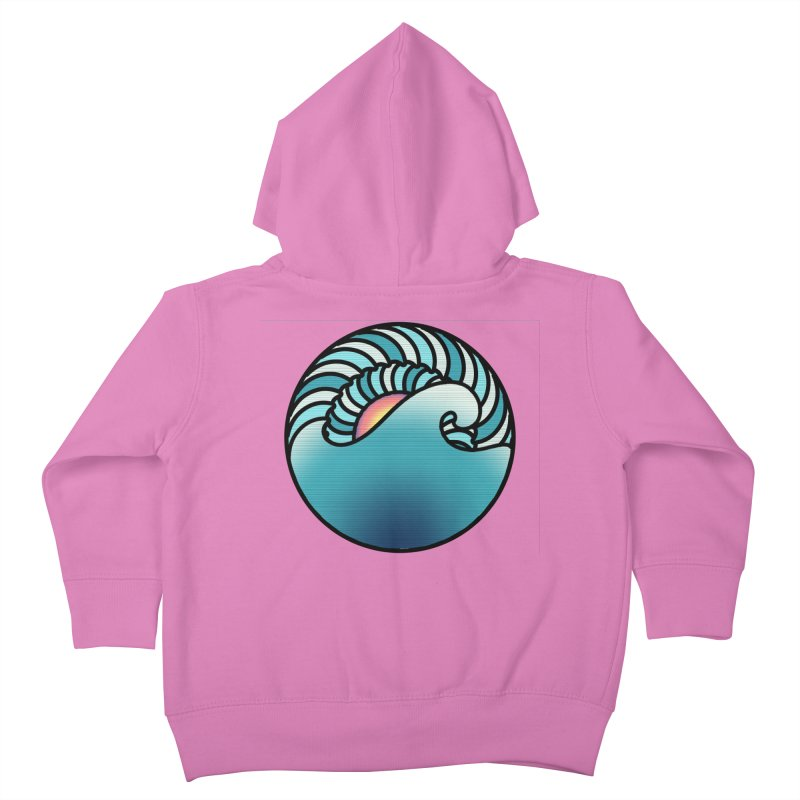 Endless Wave Kids Toddler Zip-Up Hoody by Rocain's Artist Shop