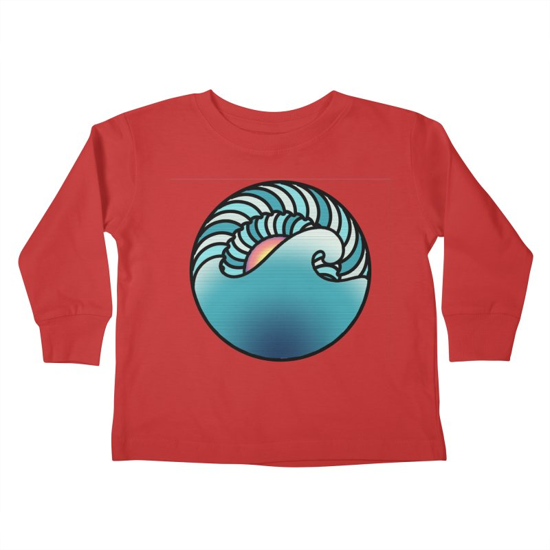 Endless Wave Kids Toddler Longsleeve T-Shirt by Rocain's Artist Shop