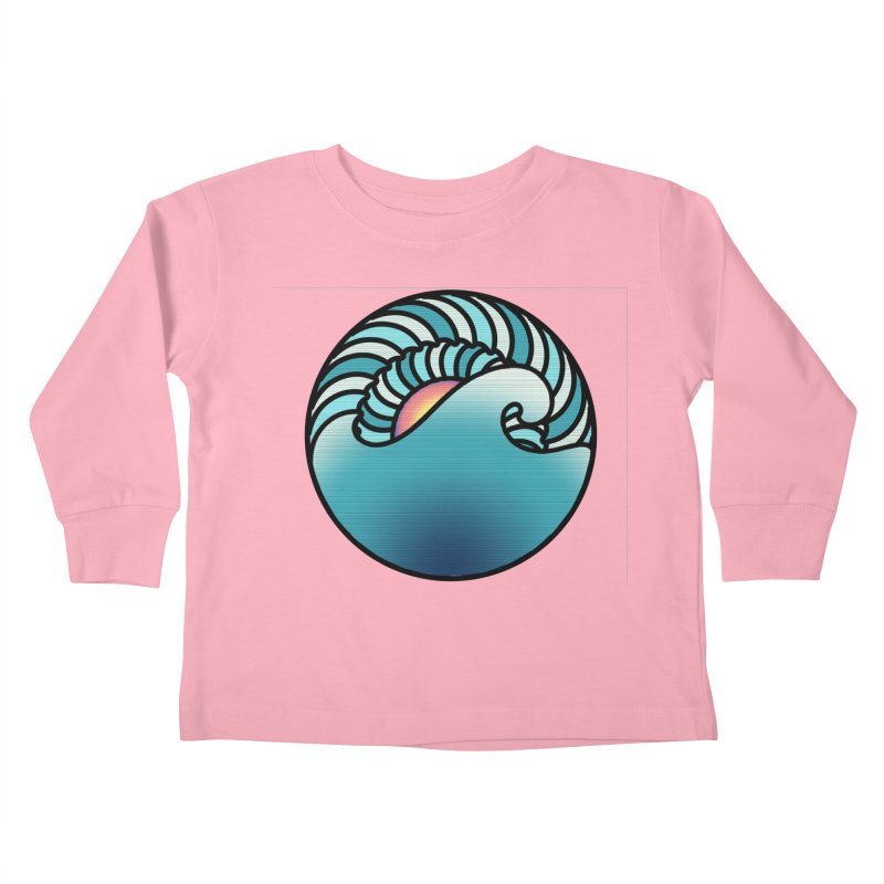 Endless Wave Kids Toddler Longsleeve T-Shirt by Rocain's Artist Shop