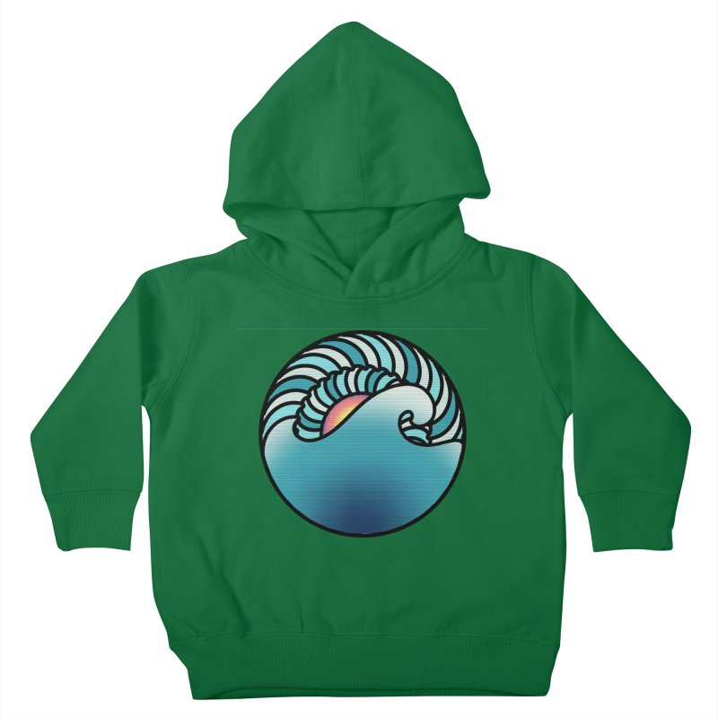 Endless Wave Kids Toddler Pullover Hoody by Rocain's Artist Shop