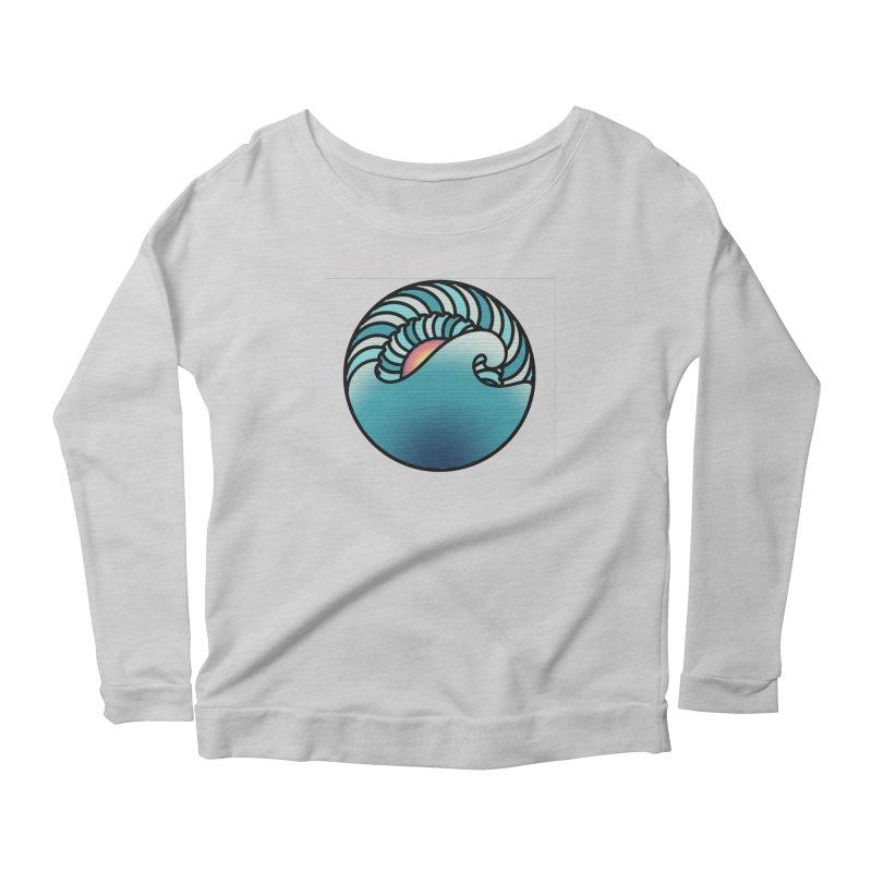 Endless Wave Women's Scoop Neck Longsleeve T-Shirt by Rocain's Artist Shop