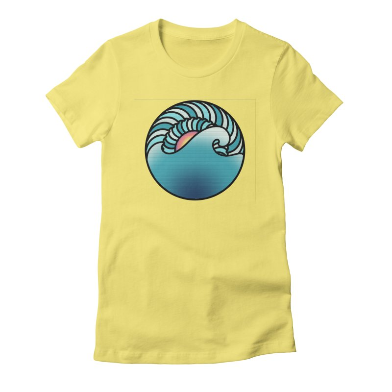 Endless Wave Women's Fitted T-Shirt by Rocain's Artist Shop