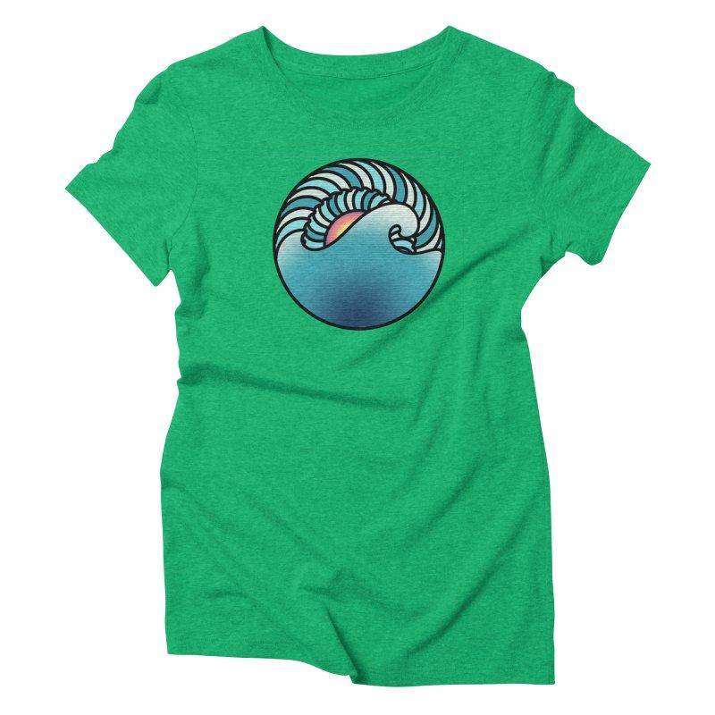 Endless Wave Women's Triblend T-Shirt by Rocain's Artist Shop