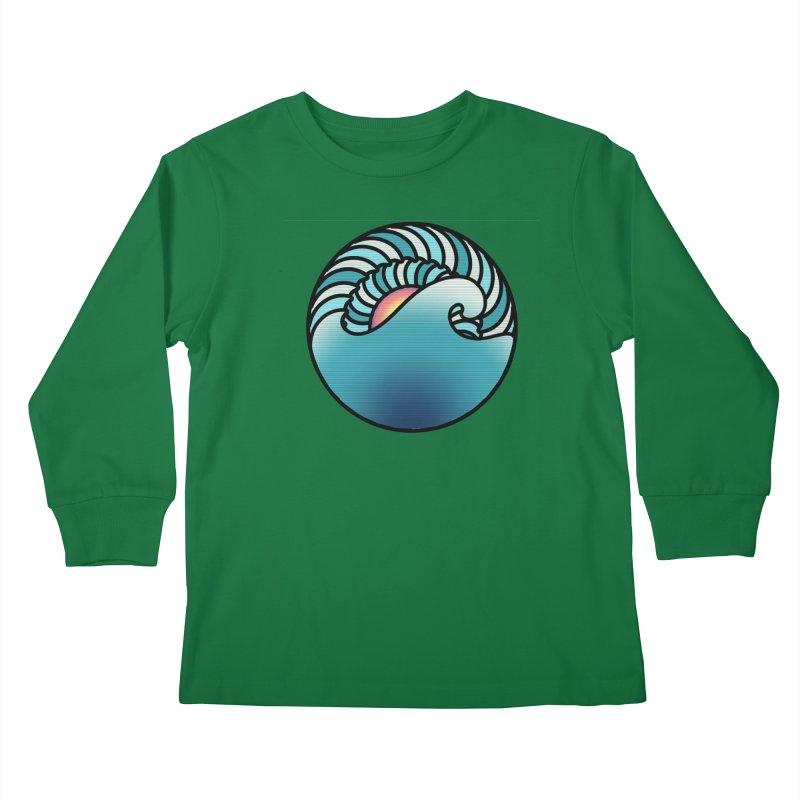 Endless Wave Kids Longsleeve T-Shirt by Rocain's Artist Shop