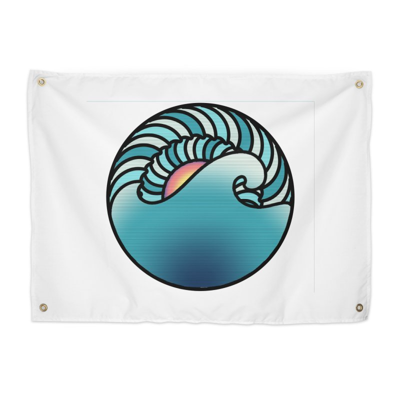 Endless Wave Home Tapestry by Rocain's Artist Shop