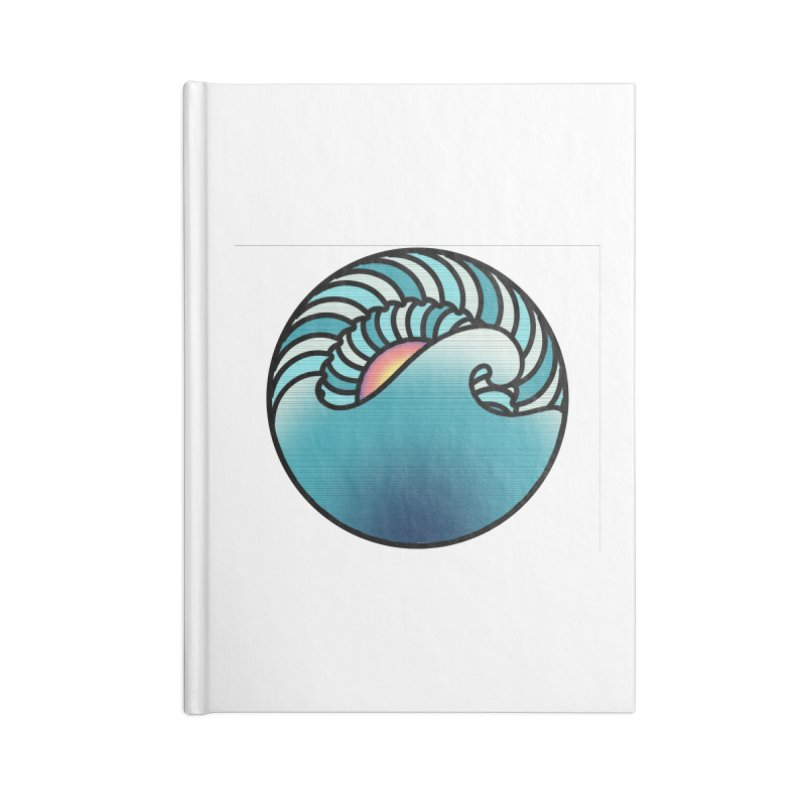 Endless Wave Accessories Lined Journal Notebook by Rocain's Artist Shop