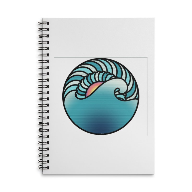 Endless Wave Accessories Lined Spiral Notebook by Rocain's Artist Shop