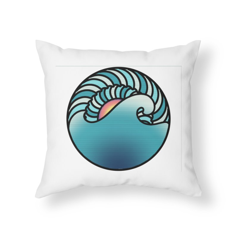 Endless Wave Home Throw Pillow by Rocain's Artist Shop