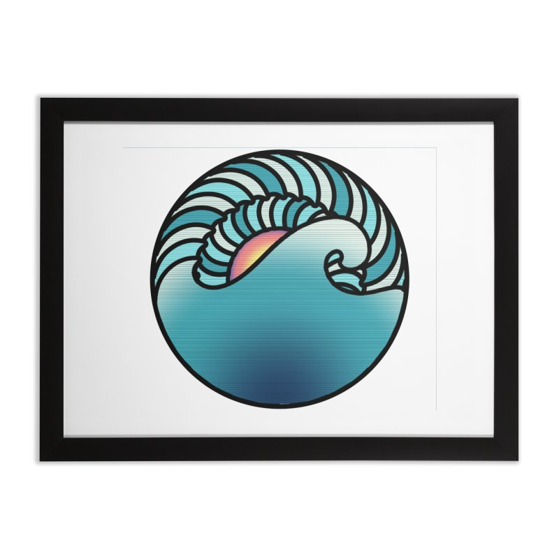 Endless Wave Home Framed Fine Art Print by Rocain's Artist Shop