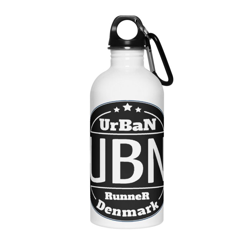 Urban Runner Logo Accessories Water Bottle by Rocain's Artist Shop