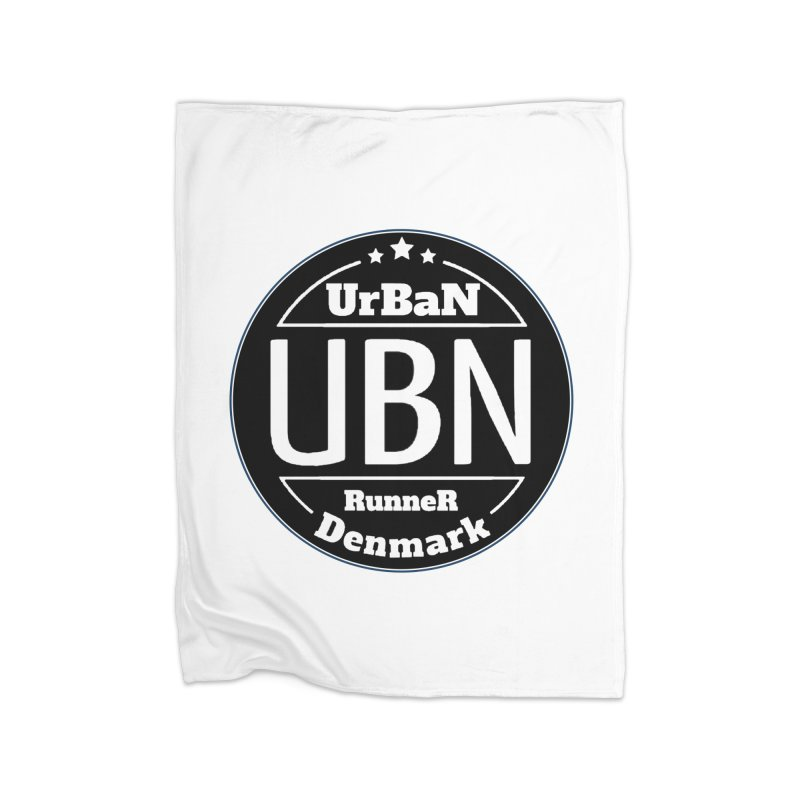 Urban Runner Logo Home Fleece Blanket Blanket by Rocain's Artist Shop