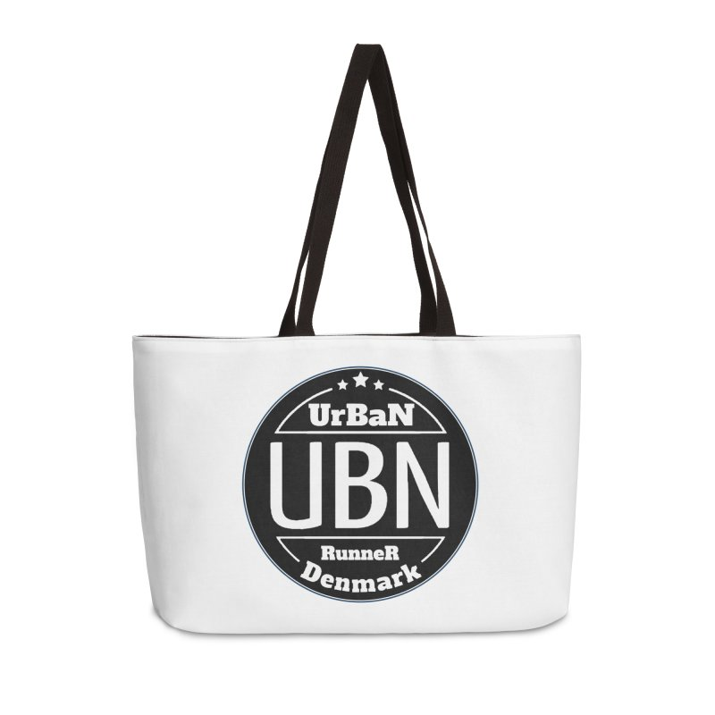Urban Runner Logo Accessories Weekender Bag Bag by Rocain's Artist Shop