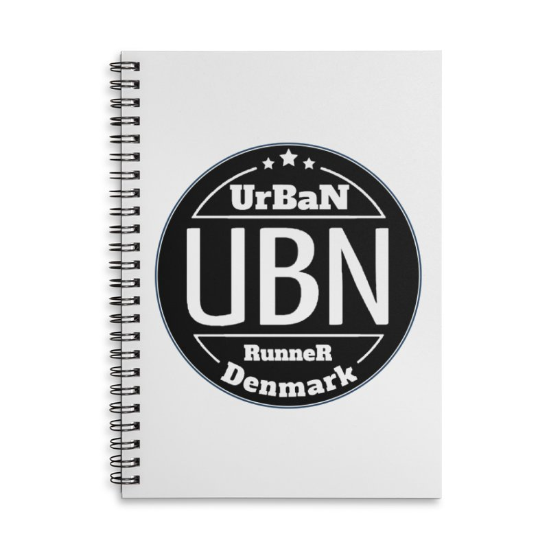 Urban Runner Logo Accessories Lined Spiral Notebook by Rocain's Artist Shop