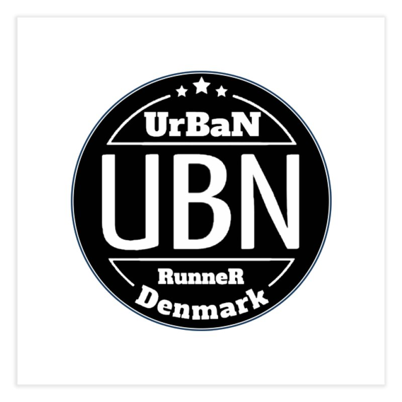 Urban Runner Logo Home Fine Art Print by Rocain's Artist Shop