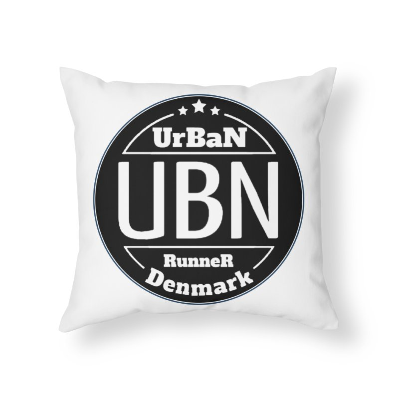 Urban Runner Logo Home Throw Pillow by Rocain's Artist Shop