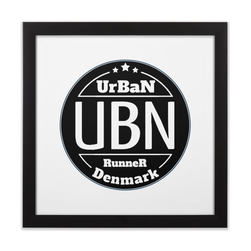 Urban Runner Logo Home Framed Fine Art Print by Rocain's Artist Shop