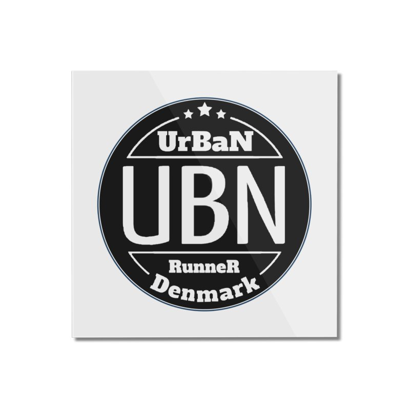 Urban Runner Logo Home Mounted Acrylic Print by Rocain's Artist Shop