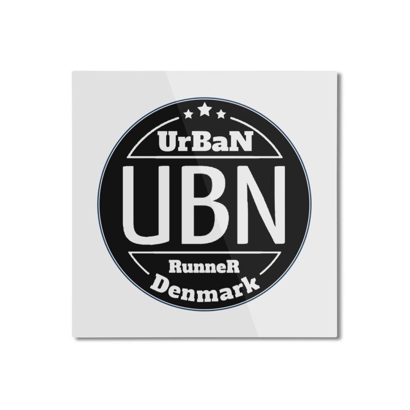 Urban Runner Logo Home Mounted Aluminum Print by Rocain's Artist Shop