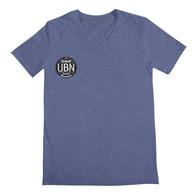 Urban Runner Logo Men's Regular V-Neck by Rocain's Artist Shop