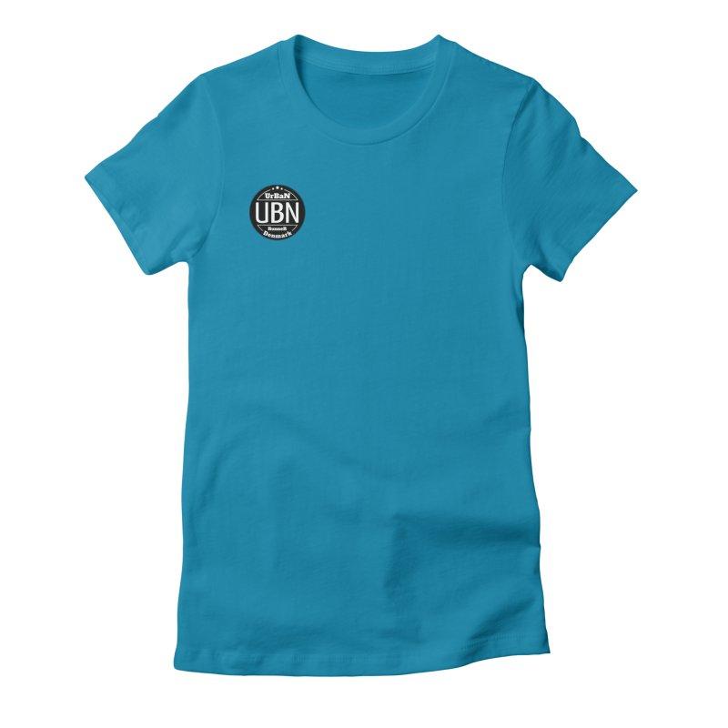Urban Runner Logo Women's Fitted T-Shirt by Rocain's Artist Shop