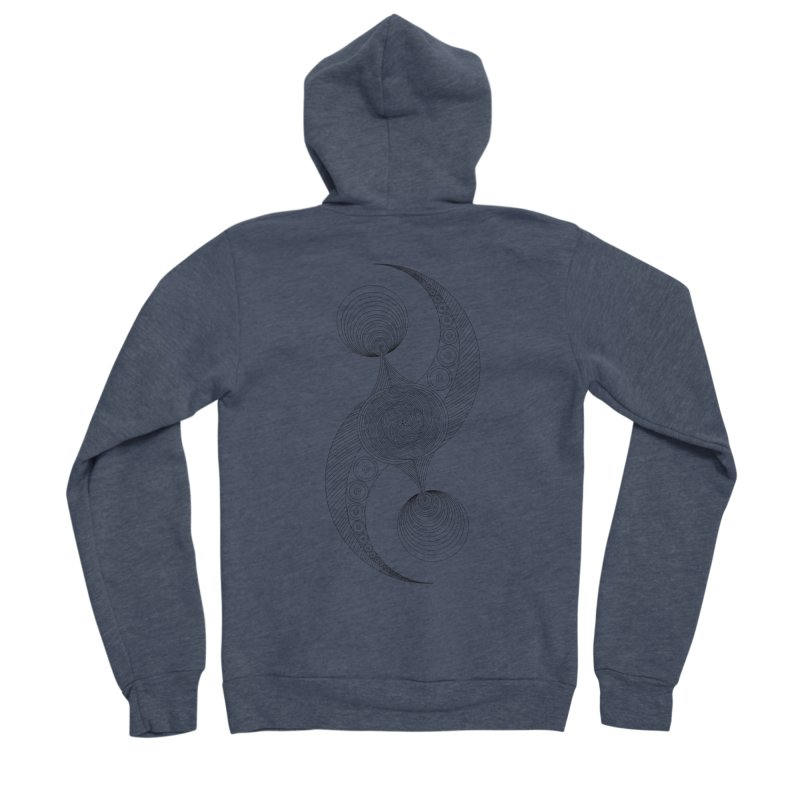 Double Crescent Men's Sponge Fleece Zip-Up Hoody by Rocain's Artist Shop