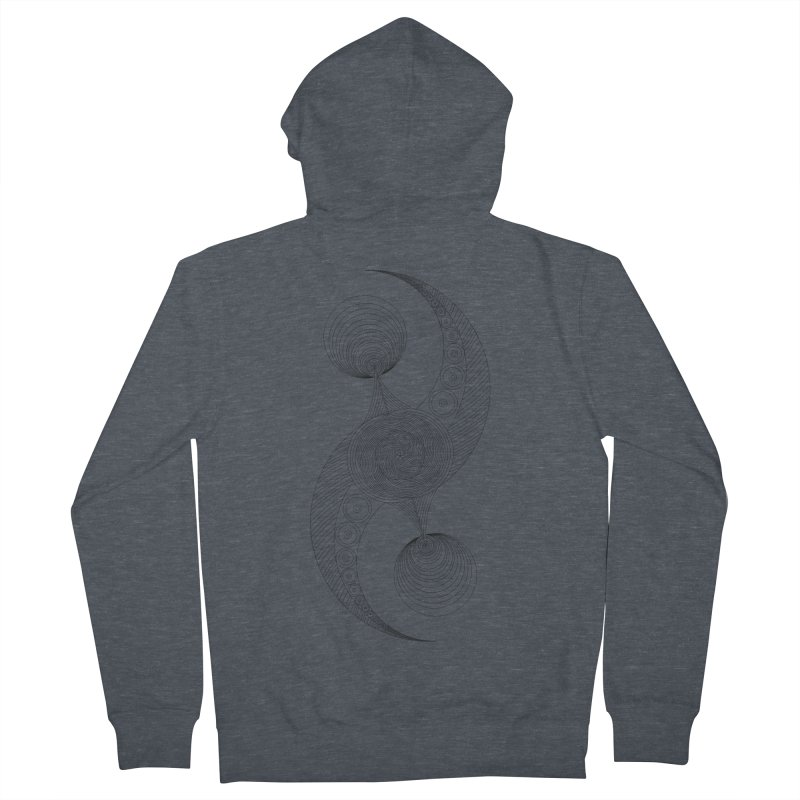 Double Crescent Men's French Terry Zip-Up Hoody by Rocain's Artist Shop