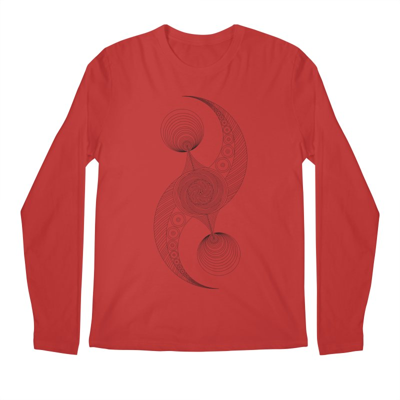 Double Crescent Men's Regular Longsleeve T-Shirt by Rocain's Artist Shop